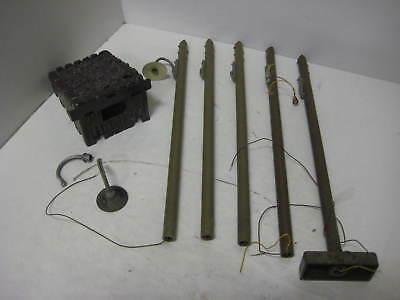 Set Of 5 Poles 1030 End Bumper Lgb G Scale Layout Lot