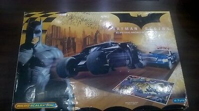 Batman Begins Micro Scalextric Electric Slot Racing Set Batmobile Tumbler Car