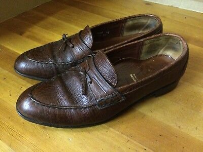 Vtg '80 DACK'S antelope leather  Canada loafers slip on dress mens shoes sz 9 1/