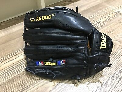 "Wilson Baseball Glove ""The A2000"" Right Hand Throw,Japan ACU,Dual-welting,Black"