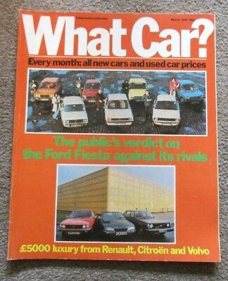 What Car Magazine March  1977 Renault 30 Ts / Volvo 244 / Rover 3500 / 504 / 104