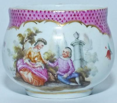 Good Meissen Hausmalerei Porcelain Chocolate Cup, No Lid