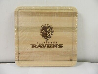 Longaberger NFL Cutting Board Lid Ravens NEW Woodcrafts 2009 USA Made