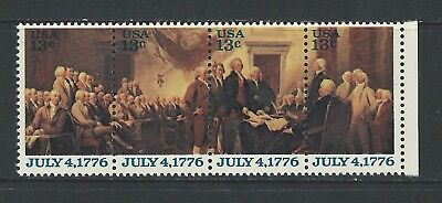 UNITED STATES - #1691-#1694 - 13c DECLARATION OF INDEPENDENCE STRIP (1976) MNH