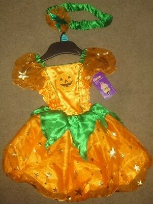 Halloween baby girls Pumpkin Dress costume Headband 9-12 Months BRAND NEW TAGGED