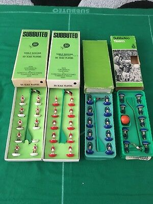 Subbuteo Teams X4 Some With Ref Stickers