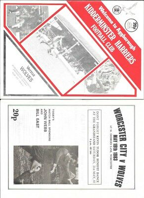 WORCESTER CITY   v WOLVES  21 May 1983  FRIENDLY