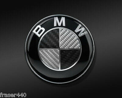 45Mm  Black/silver Carbon Style Steering Wheel Badge Suitable For Bmw