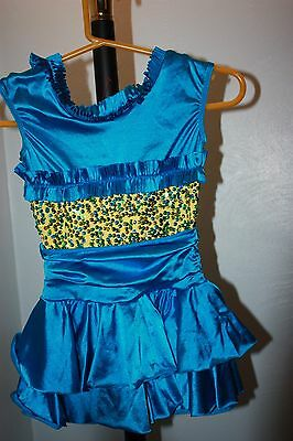 Girls Blue/Gold Dance Costume