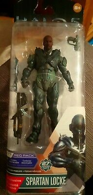 Halo 5 Guardians Spartan Locke UNHELMETED Figure with 27 moving parts - New