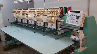 Tajima TMFXII-C1206S- 6-Head Electronic Embroidery Machine w/Safety Controls