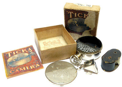 Houghton's Ticka Detective Camera 1910 working with Box Viewfinder and Spool