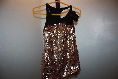 Gold Sequin Dance Costume