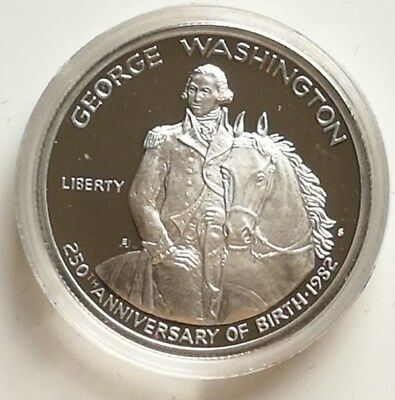 1982 USA Silver Proof George Washington Half Dollar 250th commemorative