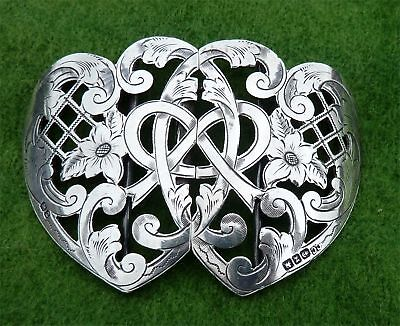 NICE VICTORIAN STERLING SILVER BUCKLE BY COLEN HEWER CHESHIRE - 1899 - 2oz