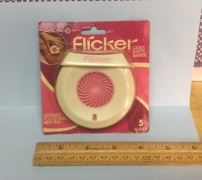 Vintage Flicker Shaver 5 Blades Razor Sealed Package