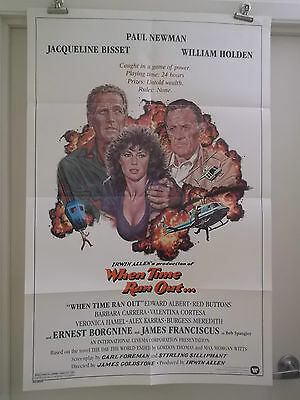 WHEN TIME RAN OUT 1 one sheet movie poster PAUL NEWMAN WILLIAM HOLDEN original