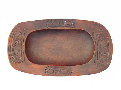 Antique Northwest Coast Native American Indian Tlingit Grease Bowl Feast Tray