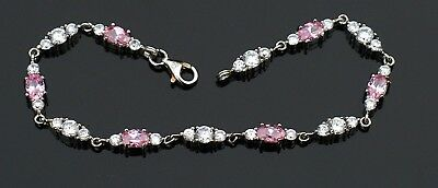 Stunning  Tennis  Bracelet signed 925 for Solid Sterling and CZ