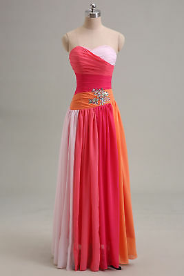 Long Chiffon Formal/Bridesmaid/prom/Party/Ball Evening Gown size 14uk **NEW**