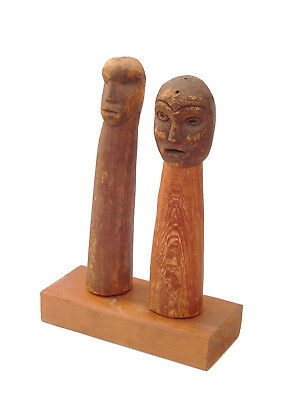 19th C. Northwest Coast Native American Indian Haida Nootka Shaman Power Figures