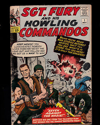 Sgt Fury and His Howling Commandos 1 solid condition Stan Lee Jack Kirby no Chip
