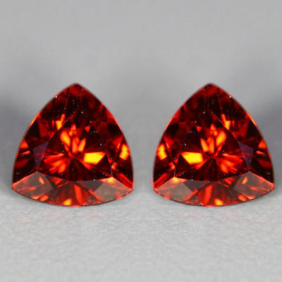 1.18 Cts~Shimmering Top Red~Matching Pair~100 % Natural Pyrope Garnet~Sri Lanka