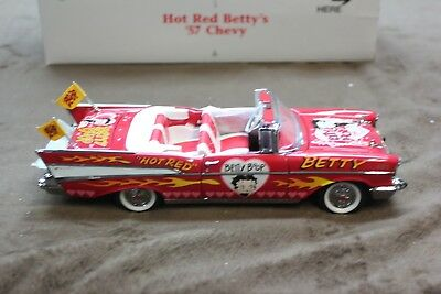 - Hot Red Betty's '57 Chevy - Betty Boop Convertible By Danbury Mint (#15)