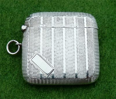 Particularly Attractive Silver Vesta Case In Very Good Condition - Chester 1922