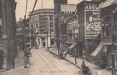 Main St., Grafton, W. Va.  (WV) early 1900s post card! Made in Germany.