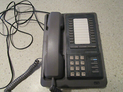 Vtg Grey GTE Model 22500HAC phone 40 Memory Feature Store/ Pulse/Tone WORKS