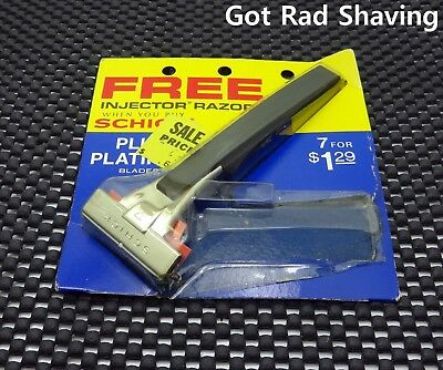 Vintage NOS SCHICK Injector TYPE L Single Edge Safety Razor Still In Package!