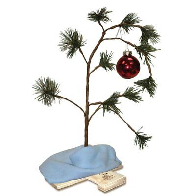 Home Decor Peanuts Charlie Brown Christmas Tree with Linus Blanket, 24-Inch