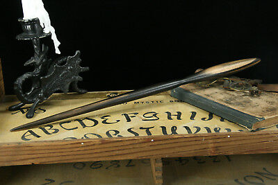 Black And White Ebony Wood Wand – Wooden Wizard Potter Druid Pagan Wiccan Spell