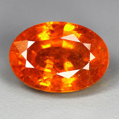 4.16 Cts_Breathtaking Fire_100 % Natural Hot Mandarin Orange Spessartite Garnet
