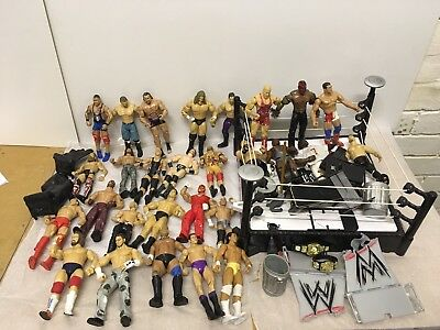 Huge WWE WWF Bundle With Figures, Ring and Accessories. Wrestling.