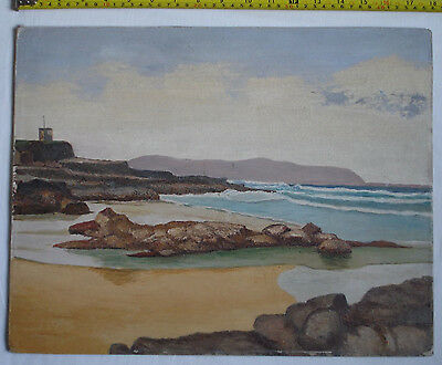Original Oil/Acrylic painting on canvas on board of dramatic seascape. Scotland?