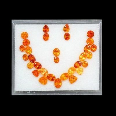 17.68 Cts-Top Electric Fire-Top Necklace Set-100 % Natural Mandarin Spess Garnet