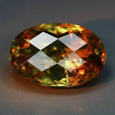 8.65 Cts_Romantic Checkerboard Oval_100 % Natural Color Change Diaspore_Turkey