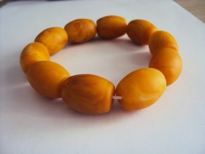 Certificat Vintage Natural BALTIC AMBER Beeswax Fashion Boutique Bracelet