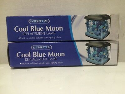 2 X Interpet Replacement Bulb - Cool Blue Moon 15W