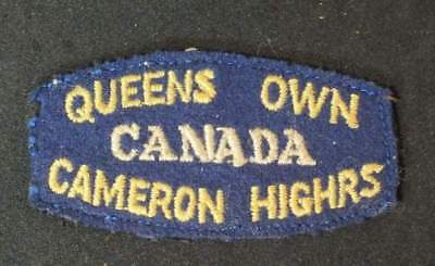 Queen's Own Cameron Highlanders of Canada title patch