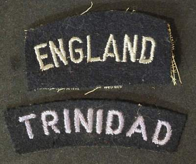 Lot of two nationality shoulder titles