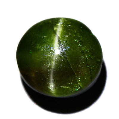 14.02 Cts_COLLECTOR GEMSTONE_100% NATURAL UNHEATED KORNERUPINE GREEN CAT'S EYE