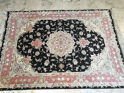 "60""x84"" Authentic Persian Tabriz Rug Hand Knotted Silk &wool Carpet"