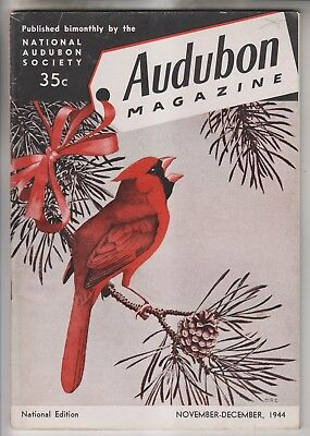 2 1944 Audubon Magazines - Published By The National Audubon Society