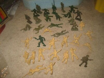 WWII toy soldiers US GIs Tim-Mee Lido Marx some original most recasts