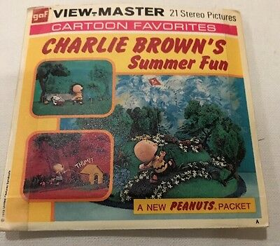 View Master Charlie Brown's Summer Fun Vintage Stereo Pictures