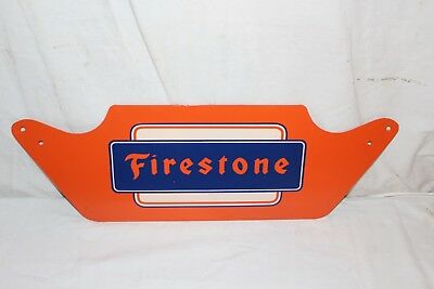 "Vintage 1950's Firestone Tires Tire Gas Station Oil 23"" Metal Sign~Nice"