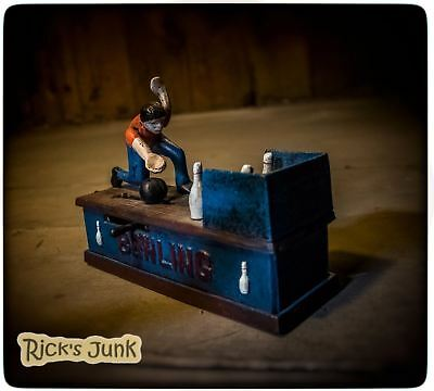 Cast Iron Mechanical Bank - Bowling
